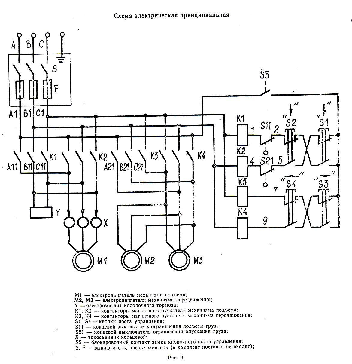 Схема управления кран балки фото 724